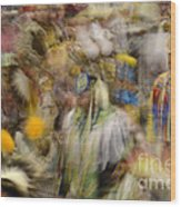 Pow Wow Color Wood Print