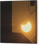 Power Eclipse Wood Print
