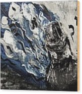 Power Of Prayer With Hasid Reading And Hebrew Letters Rising In A Spiritual Swirl Up To Heaven Wood Print