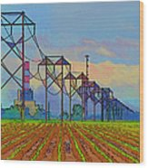 Power Plant Photo Art Wood Print