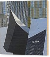 Prada Las Vegas Abstract Wood Print