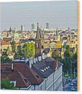 Prague And St Charles Bridge Wood Print