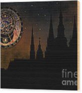 Prague Casle - Cathedral Of St Vitus - Monuments Of Mysterious C Wood Print