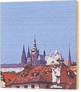 Prague Castle Wood Print by Steve Huang