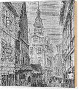 Prague: Jewish City Hall Wood Print