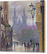 Prague Old Town Square  Wood Print by Yuriy  Shevchuk