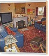 Prairie House Interior Wood Print