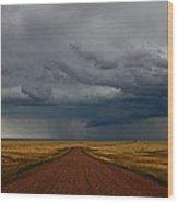 Prairie Storm In Canada Wood Print