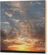 Prairie Sunset No1 Wood Print