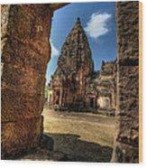 Prasat Phnom Rung Wood Print