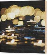 Prayer Candles Wood Print