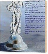 Prayer To St Christopher Wood Print