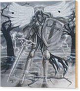 Prayer Warrior Wood Print