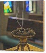 Prayers Rise Like Incense Wood Print