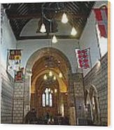 Praying At The St Mary Church Inside Dover Castle In England Wood Print