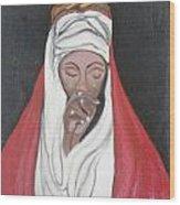 Praying Woman-oil Painting Wood Print by Rejeena Niaz