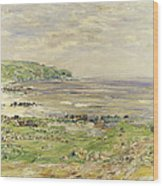 Preaching Of St. Columba Iona Inner Hebridies Wood Print by William McTaggart