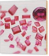 Precious Gemstones Wood Print