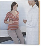 Pregnancy Consultation Wood Print