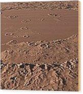 Prehistoric Schiaparelli Crater, Artwork Wood Print