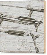 Prehistoric Spear-thrower Wood Print
