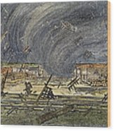 Kansas Cyclone, 1887 Wood Print