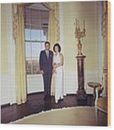 President And Jacqueline Kennedy Wood Print