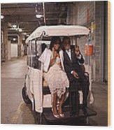 President And Michelle Obama Ride Wood Print