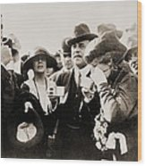 President And Mrs. Harding Entertain Wood Print by Everett
