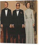 President And Rosalynn Carter Wood Print by Everett