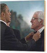 President Barack Obama Adjusts Dick Van Wood Print by Everett