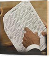 President Barack Obama And Jon Favreau Wood Print