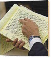 President Barack Obama Holds Wood Print by Everett