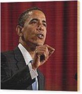 President Barack Obama Making Wood Print