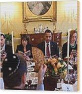 President Barack Obama Marks Wood Print