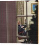 President Barack Obama Plays Wood Print by Everett