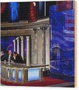 President Barack Obama Tapes An Wood Print by Everett