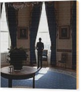 President Barack Obama The Day Wood Print by Everett