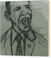 President Barack Obama Wood Print by William Winkfield