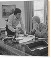 President Carter And His Chief Of Staff Wood Print by Everett