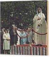 President Carter And Prince Fahd Bin Wood Print by Everett