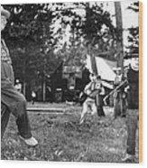 President Eisenhower Adds A Little Body Wood Print by Everett