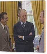 President Ford With Perennial Wood Print by Everett