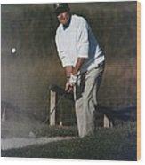President George Bush Plays Golf Wood Print by Everett