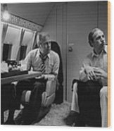 President Gerald Ford Aboard Air Force Wood Print by Everett