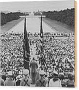 President Harry S. Truman Between Flags Wood Print by Everett