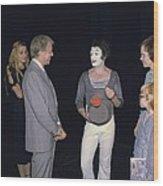 President Jimmy Carter Rosalynn Carter Wood Print