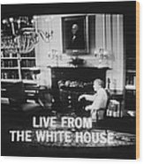 President Jimmy Carter Worn A Folksy Wood Print