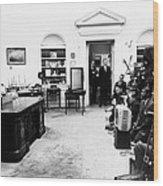 President John Kennedy Television Wood Print