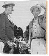 President Lyndon Johnson Entertains Wood Print by Everett
